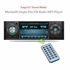 """New listing Car Stereo Bluetooth Single Din Fm Radio Mp4 Mp5 Player 4.1""""Large Screen Hands"""