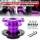 Purple Steering Wheel Quick Release Snap Off Hub Adapter Boss Kit Fit Car Racing