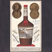 Montana Bitters 1800's Chalvin American Bitters Cordial NY bottle Trade Card