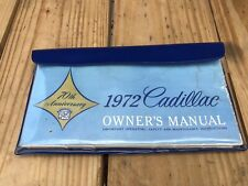 1972 Cadillac Calais DeVille Fleetwood 50 Special Brougham Owners Manual