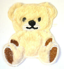 TEDDY BEAR PLUSH FURRY FLUFFY Embroidered Iron Sew On Cloth Patch Badge APPLIQUE