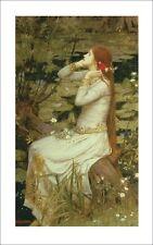 Poster Kunstdruck John William Waterhouse Frau Malerei Grün 89x56x0,1 cm A7XM