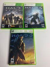 Halo 3, Halo 4 & Halo Reach(Microsoft Xbox 360) Lot 3 Games Smoke Free Home