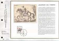 Feuillet CEF Belgique n°76  Journée du timbre  cachet 28-4-3  Bruxelles