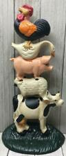 Collectible Cast Iron Farm Animals Doorstop Pig Cow Rooster Goose Lamb