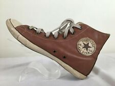 Converse All Star Leather High Tops Vintage Look Size 6 Color Brown