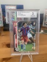 2005 Lionel Messi Panini Megacracks #71bis 2nd year GOAT Bgs Graded 3