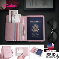 Travel Passport Holder Case Cover Wallet Pouch Luxury Leather RFID Blocking