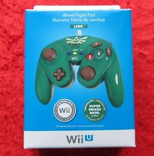 Wired Fight Pad Link Original Nintendo Wii U Controller Cavo, Nuovo OVP