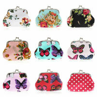 Womens Retro Vintage Purse Flower Printing Small Wallet Card Holder Coin Bags