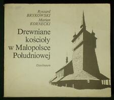 BOOK Polish Wooden Churches Malopolska Poland architecture Lemko Rusyn history