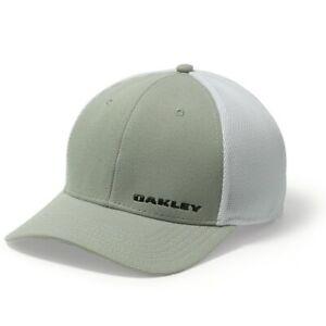 Oakley Silicone Bark Trucker  4.0 Cap -Grey Moisture Wicking Sweat Band- quality