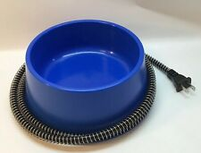 Farm Innovators QT-1C Heated Pet Bowl, Blue, 25W, 1 Quart, Dog Cat Animal
