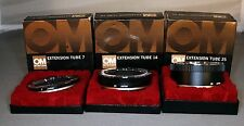 Olympus OM Mount Extension Tubes 7mm, 14mm, 25mm Set, Used, Near Mint