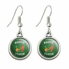 Novelty Dangling Drop Charm Earrings Rootin' Tootin' Root Vegetables Funny Humor