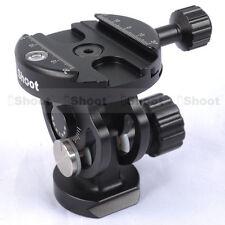 2D Stativkopf + Klammer Clamp für Stativ Monopod Kugelkopf Schnellwechselplatte