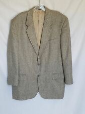 BIELLA MADE IN ITALY BROWN & BLUE PLAID 2 BUTTON SPORTCOAT JACKET SZ 42 #Y417