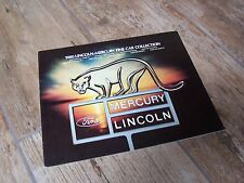 Catalogue  / Brochure MERCURY / LINCOLN Gamme / Full line 1980  //
