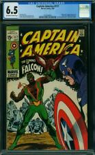 CAPTAIN AMERICA 117 CGC 6.5 OWW PAGES  HIGH GLOSS 1ST FALCON 1969 A4