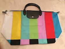 LONGCHAMP X JEREMY SCOTT Le Pliage Color TV Bar Bag NEW AND LMT XLARGE IN HAND