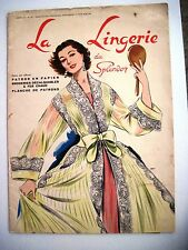 Gorgeous French Women's Fashions Magazine w/ Patterns & Pics of Lingerie   *