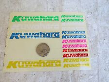 KUWAHARA DECALS BMX RARE STICKERS RACING NOS VINTAGE CRUISER FREESTYLE red dot