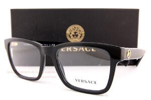 Brand New VERSACE Eyeglass Frames 3285 GB1 Black For Men