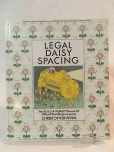 Legal Daisy Spacing Vintage Book (Hardcover 1985) Christopher Winn