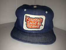 K-Brand Fountain Sand & Gravel Vtg Denim SnapBackTrue Grit Trucker Hat Products