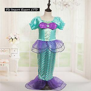Ariel La la Petite Sirène Robe Carnaval Robe Up Costume Peu Mermaid ARE014
