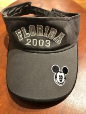 Disney Florida White and Black Mickey Mouse Strapback Visor 2003 2c89a99fde61