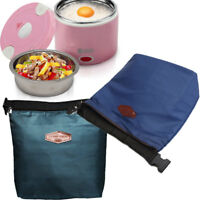 Thermal Small Portable Insulated Cooler Lunch Bags Carry Food Storage Box Pouch