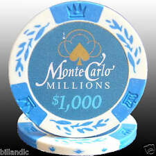 9 pc 9 colors 14 gm Monte Carlo Millions Wheat Crown poker chip samples set #101