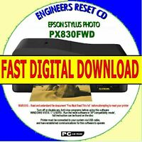 EPSON STYLUS PX830FWD WASTE INK PAD COUNTERS ERROR FAULT RESET DIGITAL DOWNLOAD
