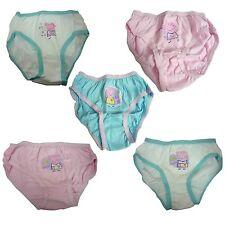 5X Peppa Pig Calzoncillos para Niñas Infantil Ropa Interior Bragas Algodón