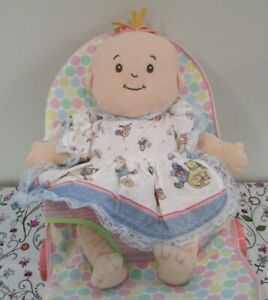 Adorable All Cloth Baby Stella Baby Doll & Bouncy Seat by Manhattan Toy