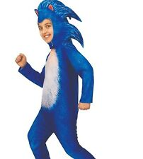 Deluxe Sonic the Hedgehog Movie Child Boys Girls Costume - Large 12-14