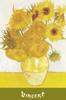 Les Tournesols Sunflowers Vincent Van Gogh Art Print Poster 24x36