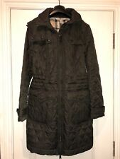 Brand new dark olive quilted Burberry coat