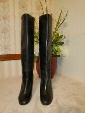 Via Spiga Starie Leather Knee-High Boot Black size 4.5 M $395