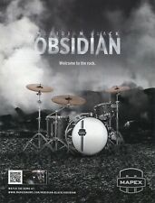2012 Print Ad of Mapex Meridian Black Obsidian Drum Kit