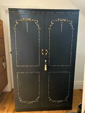 Vintage French Style Luscious Deep Grey And Gold Wardrobe Delivery Available