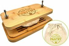 Tofu Press By Grow Your Pantry Bamboo Wooden Design with a Stainless Steel Screw