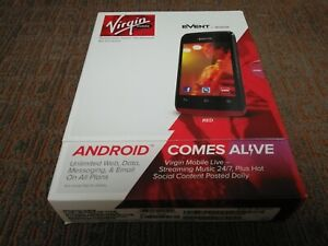 Kyocera Event Red / Prepaid Android Phone Virgin Mobile