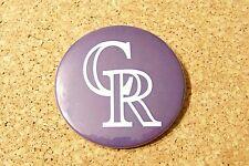 """2014 Colorado Rockies CR 3"""" purple button"""