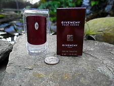 Givenchy Pour Homme Men's Eau De Toilette MINI Travel Size  .13 Fl Oz New in Box