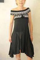 HIGH USE robe haut de gamme cachemire viscose noire TAILLE S  NEUVE S ÉTIQUETTE