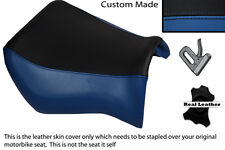 BLACK & ROYAL BLUE CUSTOM FITS YAMAHA MT 03 06-13 FRONT LEATHER SEAT COVER