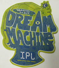 DREAM MACHINE IPL Beer COASTER Mat Magic Hat Brewing, VERMONT 2014 INDIA PALE