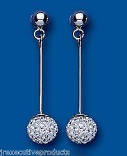 Orecchini Cristallo Argento Sterling Pendente Austriaci Cristallo Sfere Goccia